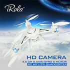 2.4GHz WIFI FPV Real-time RC Drone RTF 4.5 CH 6 Axis Gyro LED Quadcopter HD US