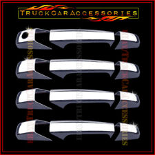 For CADILLAC Escalade 2007-2011 2012 2013 Chrome 4 Door Handle Covers w/out PK