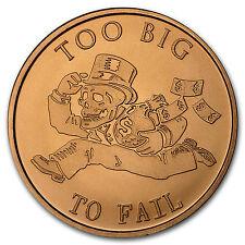 2016 1 oz Copper Round - Too Big to Fail