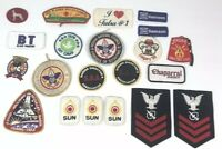 Lot Of 21 Vintage Modern Advertising Company Logo Sew On PATCHES Craft Project