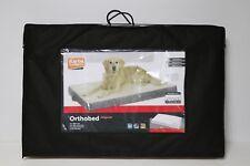 Karlie Ortho Bed, Orthopädisches Hundebett Eckig Liegebett 100 x 65 x 12cm beige