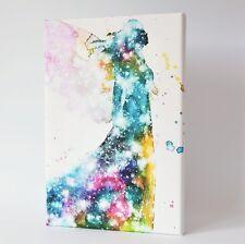 "Engelbild, Bunter Engel ""Kosmischer Schutzengel"" kleines Wandbild, Yoga Deko"