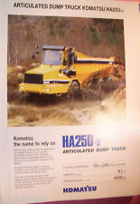 ✪altes original Prospekt/Sale Brochure Komatsu Articulated Dump Truck HA250-3