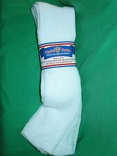13-15 SOLID WHITE 12 PAIR OVER CALF PHYSICIANS CHOICE CASUAL DIABETIC SOCKS