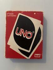 UNO Card Game Original 1983 VINTAGE