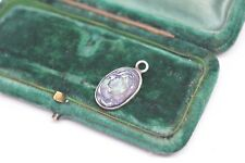 Vintage Sterling Silver Abalone pendant #P195
