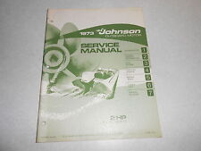 1973 2 hp Genuine Johnson Evinrude Outboard Repair & Service Manual 2hp