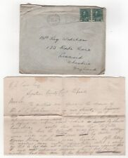 1913 CANADA KGV Cover REGINA to LISCARD GB Event Slogan + LETTER CONTENT