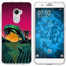 Case für HTC One X10 Silikon-Hülle Retro Wave Delphin M1 + 2 Schutzfolien