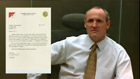 House of Cards Brockhart Colm Feore Production Used Resignation Letter July (B)