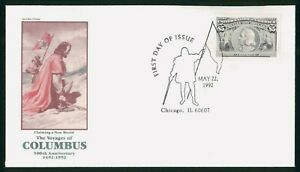 Mayfairstamps US FDC 1990 Columbus First Day Cover wwo_49845