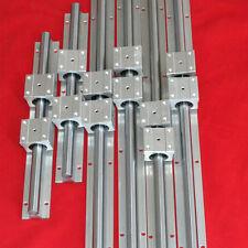 LINEAR SLIDE RAILS SBR16-300/700/1100MM (6 SUPPORTED RAILS+12BLOCKS) FOR CNC