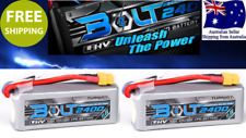 2 pack Turnigy BOLT 2400mAh 3S 65~130C LiHV 11.4v Lipo XT60 Battery RC Plane Car
