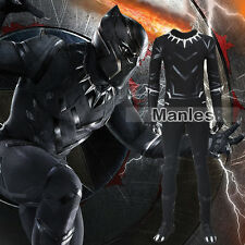 Captain America 3 Black Panther Avengers T'Challa Cosplay Costume Halloween