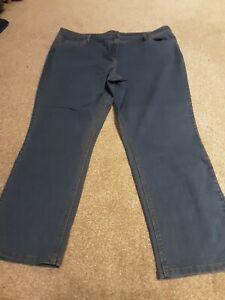 Bn Ladies Bhs Midwash Straight Leg Jeans Size 20 petite