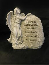 "BNIB  "" GRANDAD "" LARGE STANDING ANGEL WITH ROCK GRAVESIDE ORNAMENT"