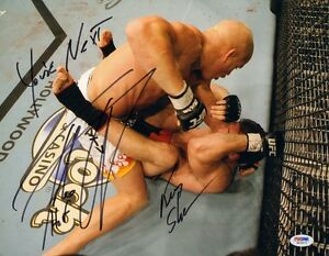 TITO ORTIZ KEN SHAMROCK SIGNED AUTO'D 11X14 PHOTO PSA/DNA COA UFC 65 61 40 HOF