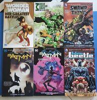 Batman Wonder Woman Swamp Thing TPB Graphic Novel Trade Paperback Lot DC Comics!