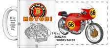 """MOTOBI PRESARO 175cc ZANZANI RACER MOTORCYCLE """"HIGH DETAILED"""" IMAGE COFFEE MUG"""