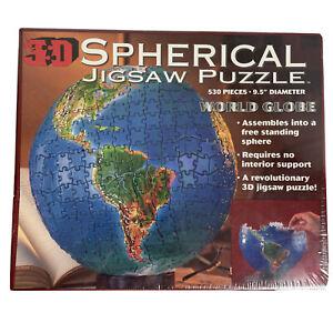Sperical World globe 530. Buffalo Games.Vintage 1997 Jigsaw Puzzle Free Aus Post
