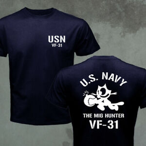 US Navy VF-31 Mig Hunter F-14 Tomcat T-shirt