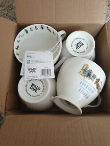 Roald Dahl James And The Giant Peach Footed Mug PRICE IS FOR 4 MUGS SEE PICS