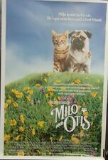 The Adventures of Milo and Otis Original 1986 Double Sided Movie Poster