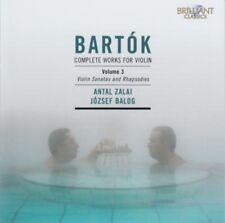 Bela Bartok - Complete works for violin vol. 3 (Zalai/Balog) CD