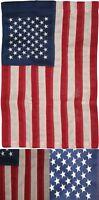 "12""x18"" Embroidered American 50 Star 210D Nylon Garden Flag Sleeved Pole"