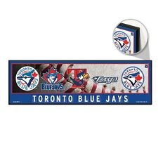 """TORONTO BLUE JAYS RETRO LOGO'S COOPERSTOWN COLLECTION WOOD SIGN 9""""x30"""" WINCRAFT"""