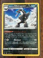 Pokemon Card   OBSTAGOON   Reverse Holo Rare  119/202   SWORD & SHIELD  *M*