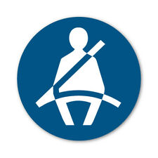 2 x Cintura Simbolo di avvertimento AUTOADESIVO ADESIVI SAFETY Business