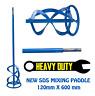 2Pcs Mixing Paddle 120 x 600mm SDS PLUS Paint Mixer Mortar Plaster Render Whisk