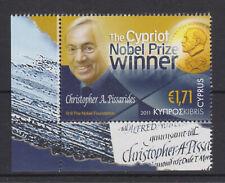 CYPRUS MNH STAMP SET 2011 NOBEL PRIZE WINNER CHRISTOPHER PISSARIDES