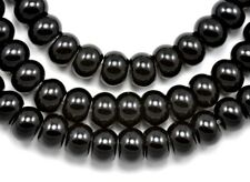 Black Rondelle Onyx Agate Semi-precious Gemstone Beads for Jewellery Making 8mm