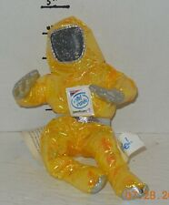"1997 Intel Inside Pentium II Yellow Astronaut Man Plush 8"" Plush BeanBag Toy HTF"