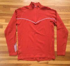 Men's HELLY HANSEN / 1/4 zip Long Sleeve Base Layer Shirt / Orange / Medium