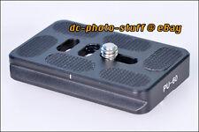 Benro PU60 Universal Quick Release Plate fit Tripod Ball Head MeFoto ArcaSwiss