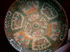"""19th C Famille Rose 13.5"""" BOWL - BIG enough to anchor a room BIG - Lovely"""