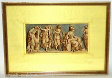 CIRCLE OF GIOVANNI BATTISTA CIPRIANI WATERCOLOR INK WASH FRIEZ OLD MASTER ART