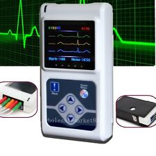 3-channel ECG EKG Holter System/Recorder Heart Monitor Sleep New Software Easy