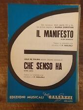 """SPARTITO CHRISTIAN """"IL MANIFESTO"""" DE PALMA """"CHE SENSO HA"""""""