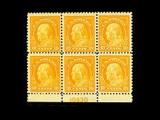 510 FRANKLIN 10cent MNH Plate Block  CV$325 Very Nice +++L@@K