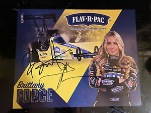 Brittany Force  and john force dual signed 2021 hero card autograph