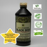Black Seed Oil - 100% Pure and Cold Pressed Cumin Nigella Sativa Non GMO - 16oz.