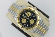 Tag Heuer 2000 CK1120.BB0329 GOLD BLACK Professional Watch Mens Chronograph Mint