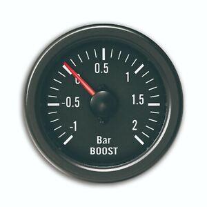Manometre YoungTimer, pression de turbo, boost, noir, diametre 52mm