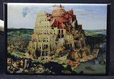 "The Tower of Babel by Pieter Bruegel the Elder 2"" X 3"" Fridge / Locker Magnet."