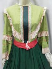 Vintage Charles Fox theatrical Victorian dress green pink 10 Southern belle