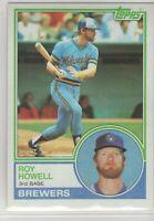 1983 Topps Baseball Milwaukee Brewers Team Set